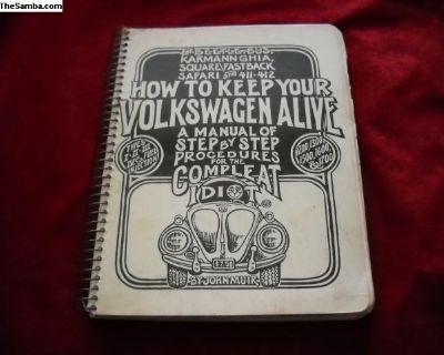 How To Keep Your Volkswagen Alive Book- 1976