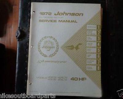 1972 Johnson Service Manual 40 Hp Motors @@@check This Out@@@