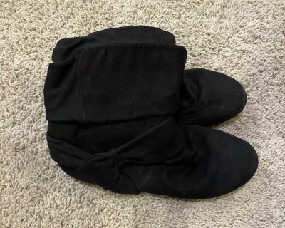 Girls Black Short Dress Boots