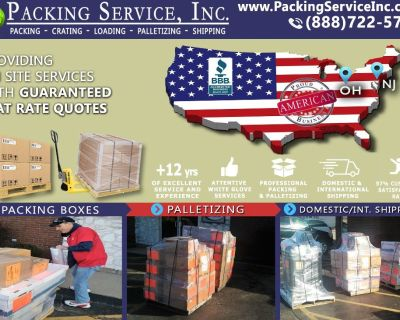 Packing Service, Inc. Shipping Services and Palletizing Boxes - Jackson, Mississippi