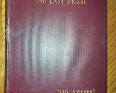 Antique 1900 book Napoleon : the Last Phase by Lord Rosebery. Uncommon, $8