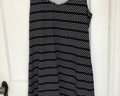 Lands End Bathing Suit / Beach Cover Up, Size 10-12