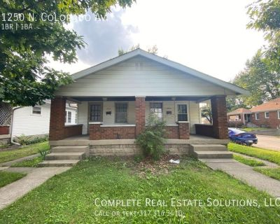 Now Showing this 1 bedroom, 1 bath duplex located at 1250 Colorado Ave.,  Indianapolis