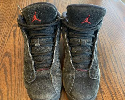 Youth Size 4 Air Jordan 13 s - worn for school for one year last year.