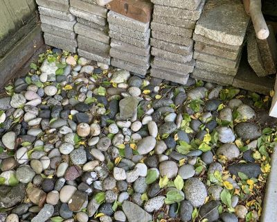 Free rectangle paver stones approx 48 total