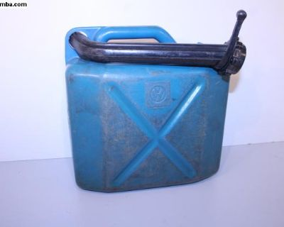 70's Accessory Blue Plastic VW Gas Can Westy