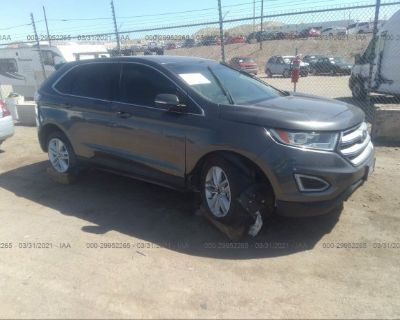 Salvage Gray 2017 Ford Edge