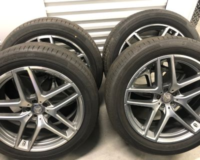 """21"""" Mercedes Benz Wheels and tires with TPMS from a 2019 GLS63"""
