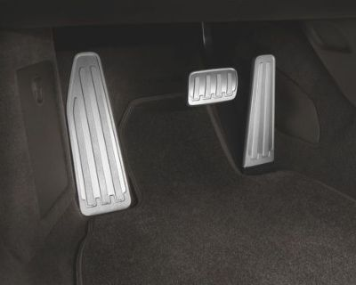 Porsche Tequipment Pedals And Footrest In Aluminum 911 2012-on Pdk 991 And 981
