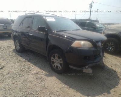 Salvage Black 2004 Acura Mdx