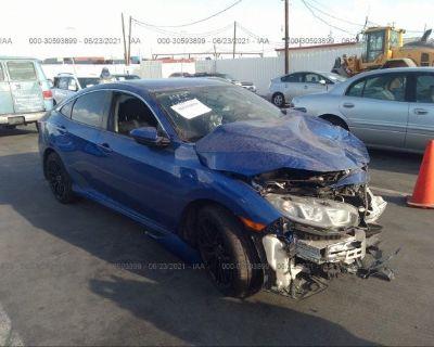 Salvage Blue 2016 Honda Civic Sedan