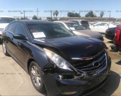 Salvage Black 2013 Hyundai Sonata