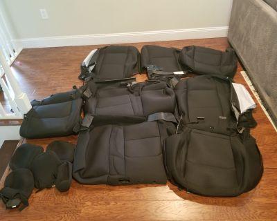 West Virginia - Factory OEM black cloth seat covers