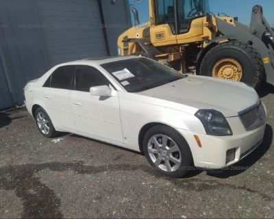 Salvage White 2006 Cadillac Cts