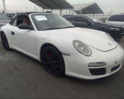 Salvage White 2009 Porsche 911