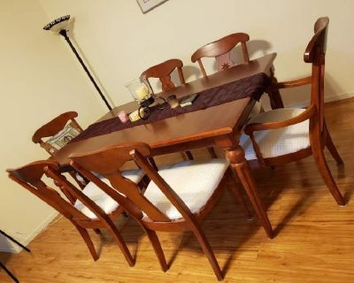 Long Dining Table Set for Sale