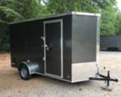 "Deluxe 6ft X 12ft Single Axle V Nose in Charcoal, 12"" Taller"