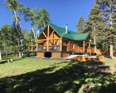 Saddle Mountain Log Cabin with Hot Tub - Florissant