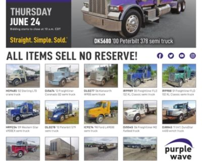June 24 truck and trailer auction