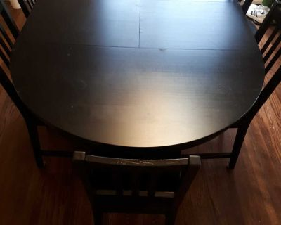 Ikea dining room table with 6 chairs