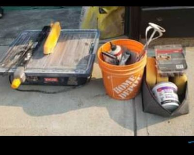 Tile saw and accessories