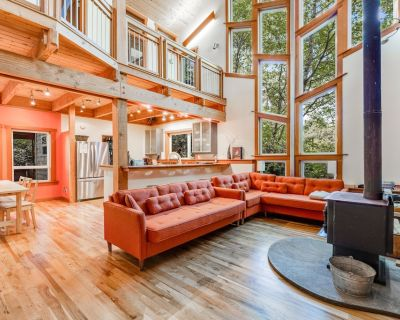 Dog-Friendly Home 3 Blocks from the Beach w/ Forest Views, Wood Stove & WiFi - Arch Cape