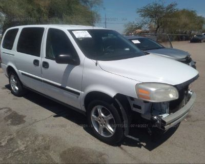 Salvage White 2008 Chevrolet Uplander