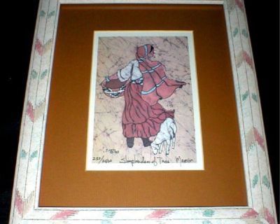 Sheepherders of Taos Art Print - Signed, Numbered, Dated - Framed - Matted
