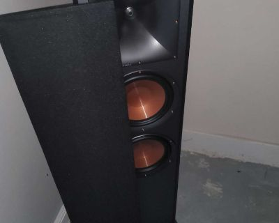 Klipsch R-820F Tower speakers and R-51m bookshelf speakers and stands