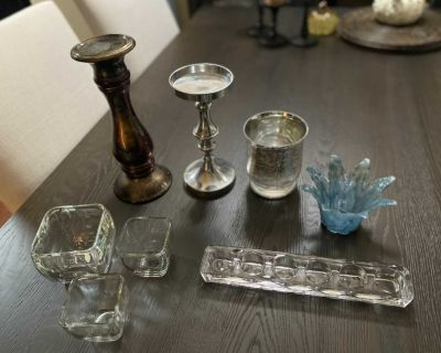 Candle holders/ decor pieces