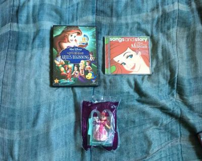 Lot Of Disney The Little Mermaid DVD, Music CD And Toy