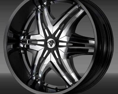 "30""wheels Diablo Elite Black Chrome Chevy Gmc 1500"