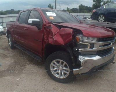 Salvage Burgundy 2020 Chevrolet Silverado 1500