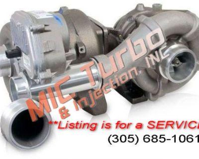 08-10 Ford 6.4l Twin Turbo Rebuild Service Oem Borg Warner