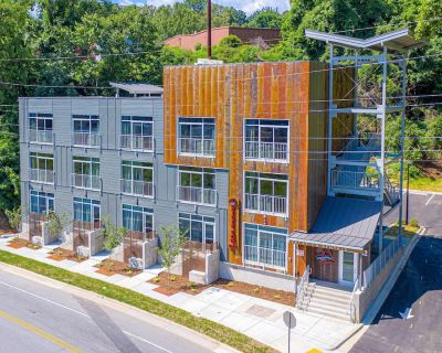 The French Broad River Room at River Row Flats - Room 103(Pet Friendly with Fee) - Asheville