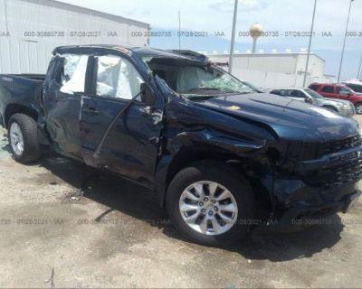 Salvage Blue 2021 Chevrolet Silverado 1500