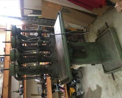 Vintage Leland Gifford 4 Spindle Drill Press