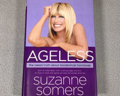 Ageless - by Suzanne Summers hardcover book - box aa18