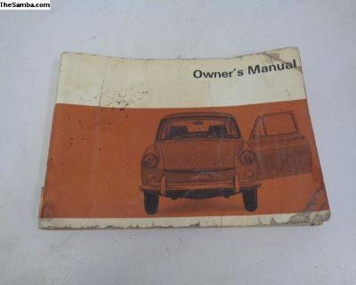 VW 1968 Type 3 Owner's Manual