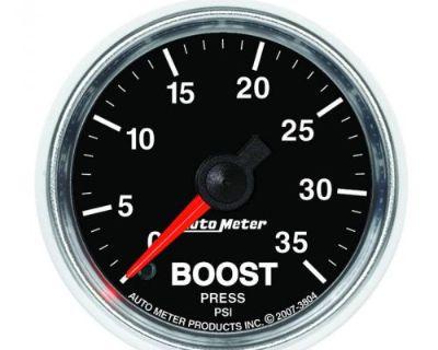 """Auto Meter 3804 Gs 2-1/16"""" Mechanical Boost Gauge, 0-35psi"""