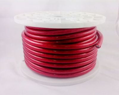 New 4 Gauge 5' Feet Wire Power Cable Red True Gauge