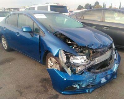 Salvage Blue 2013 Honda Civic Sdn