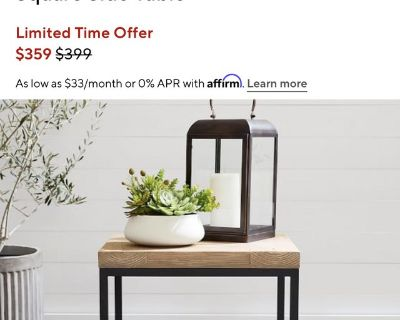 Pottery Barn Malcolm Indoor Outdoor side table