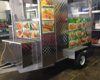 All Stainless Steel Small Used Compact Street Food Gyros Concession Trailer