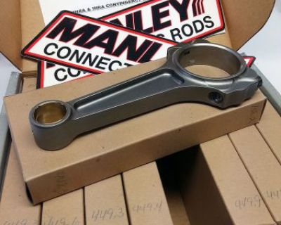 """New Set 8 Manley 14354-8 S/b Chevy Pro Series I-beam 6"""" Large Journal Steel Rods"""