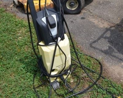 estate sale with tools and equipment