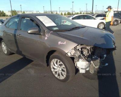 Salvage Gray 2017 Toyota Corolla