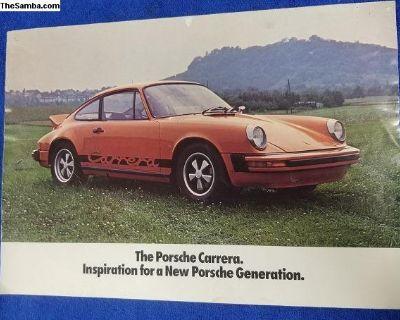 Porsche 1974 Carrera Sales Brochure