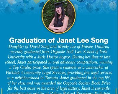 SONG, Janet Lee - Graduation o...