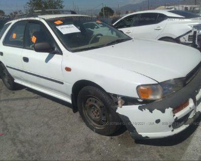 Salvage White 1997 Subaru Impreza Wagon